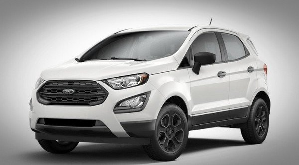 White Ford EcoSport front-side view