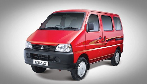 Maruti Suzuki Eeco side and front look red color