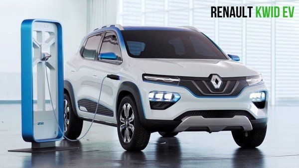 Renault K-ZE near the charging boot