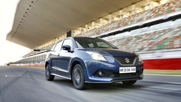 Maruti Suzuki Baleno running on race