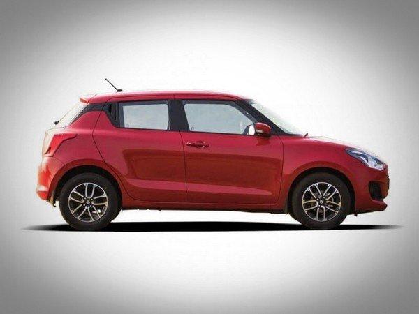 Maruti Suzuki Swift 2018 side look red color