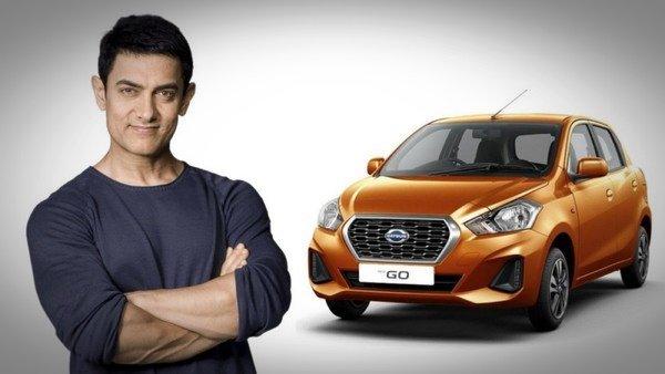 Aamir Khan and Datsun car