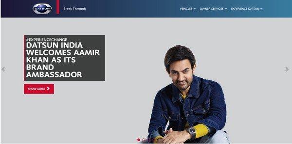 Aamir Khan on Datsun website