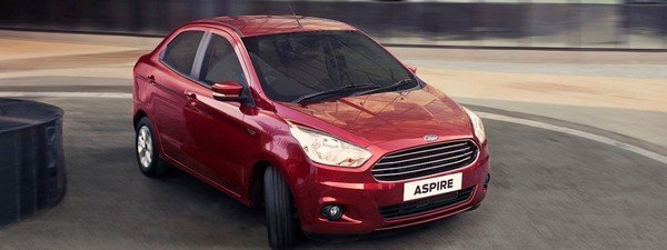 2018 Ford Aspire red colour angular look