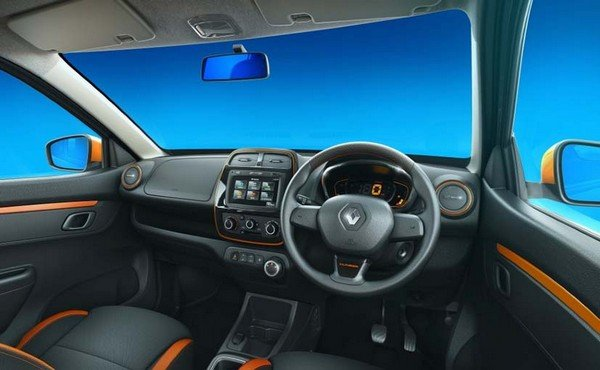 Renault Kwid Climber interior orange highlights