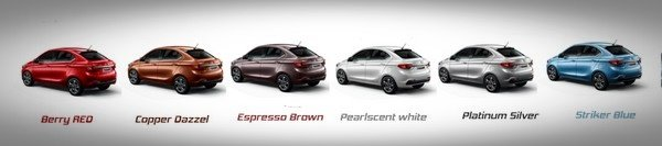 2018 Tata Tigor colours