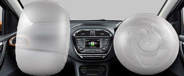 Tata Tigor interior dual airbags
