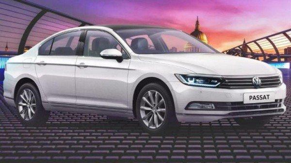 Volkswagen Passat side look white color