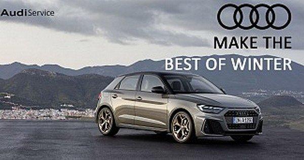 """Audi's """"Make the Best of Winter"""" campaign poster"""