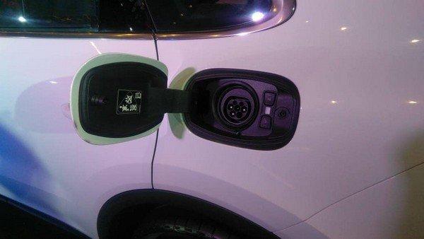 The 2018 E-Hybird Version, charging port
