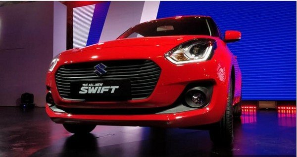 The all-new Maruti Swift, Red colour, front angular look