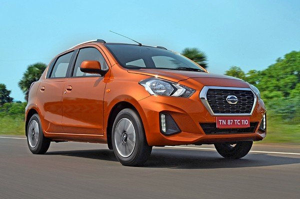Datsun GO front look on road