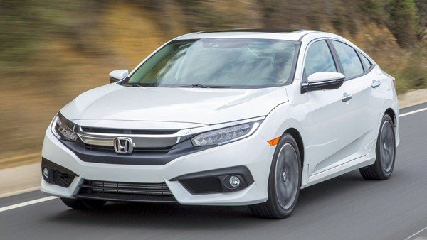 2019 Indian Honda Civic white colour angular look