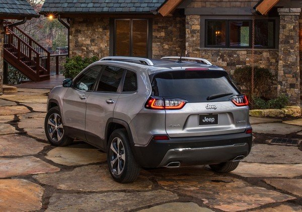 2019 Jeep Cherokee side profile and rear
