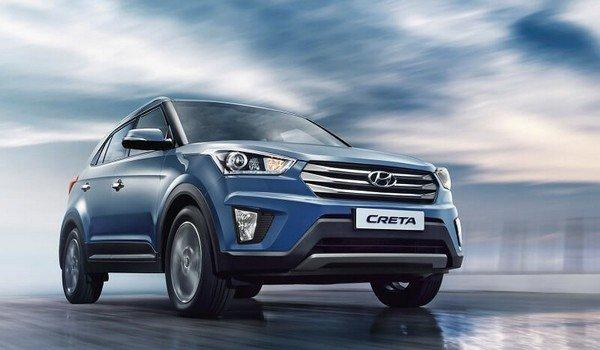 Hyundai Creta 2018, blue colour, front side