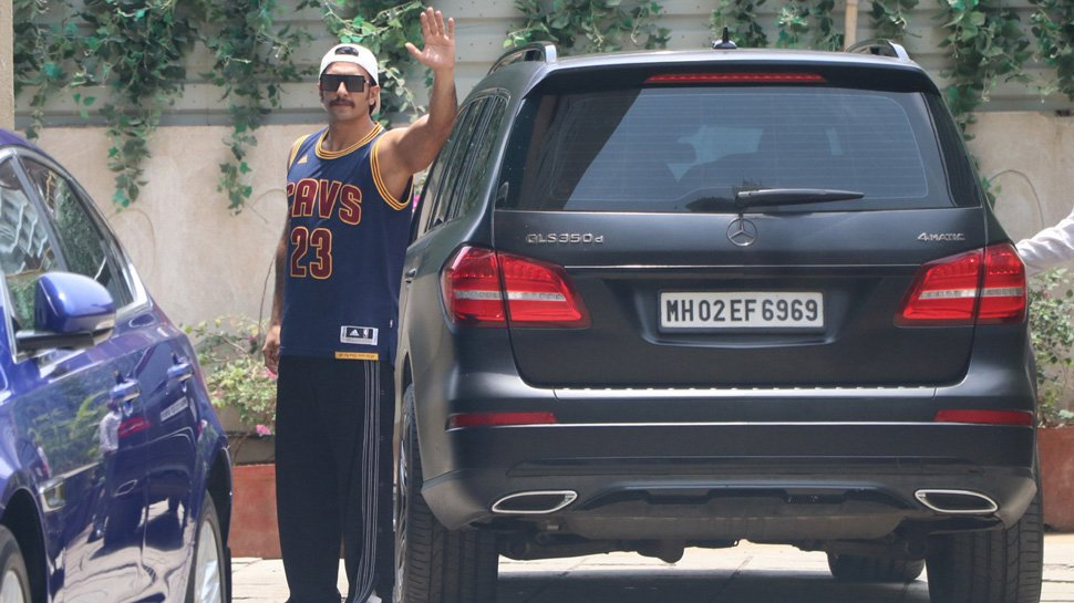 Ranveer Singh Mercedes Benz GLS black rear