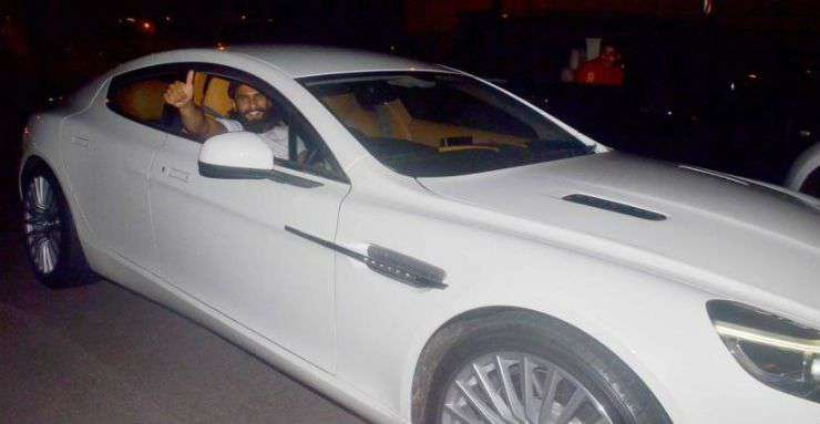 ranveer singh aston martin white side profile angle