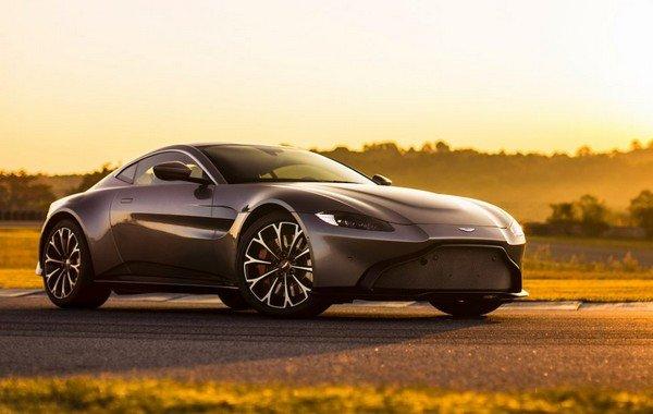 Aston Martin Vantage at twilight