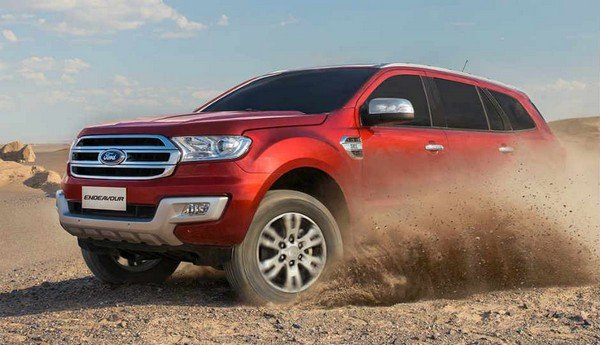 2018 Ford Endeavour, red colour, front left side