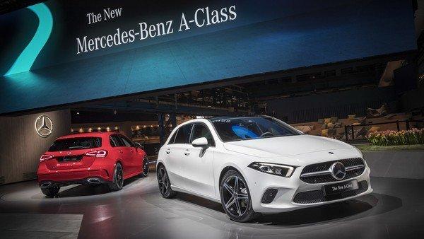 Mercedes-Benz A-class 2 cars at showroom
