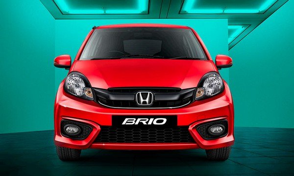 Honda Brio, Red Colour, Front Angular Look