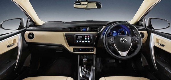 Indian-bound Corolla Altis interior