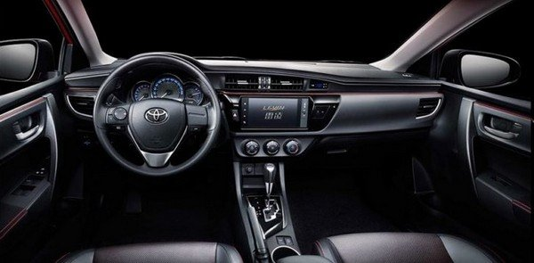 China-bound Toyota Corolla interior