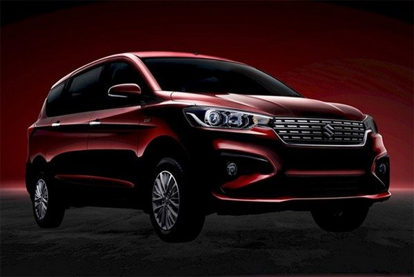 Maruti Ertiga red color front face black background