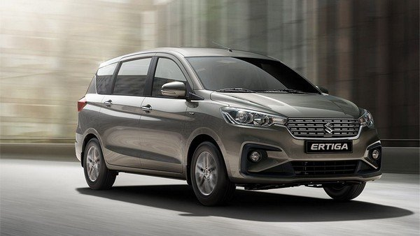 Maruti Ertiga 2018 on road front face