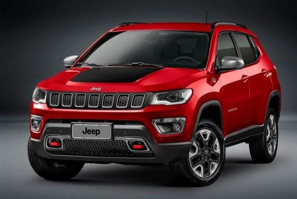 Jeep Compass Trailhawk red colour