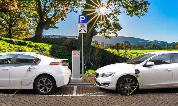 Electric cars, charging station
