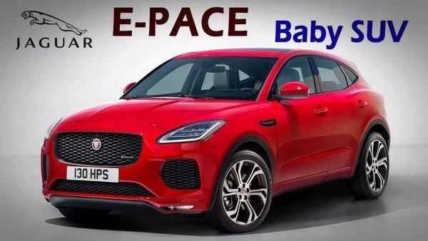Jaguar E-Pace red colour