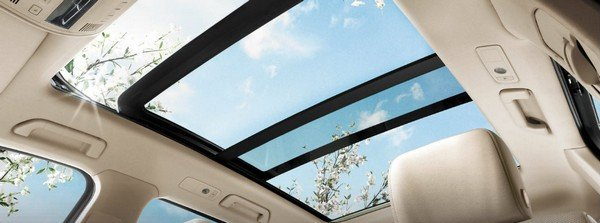 view of the sky through the sunroof