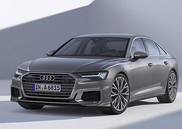 Audi A6 grey color front look indoor