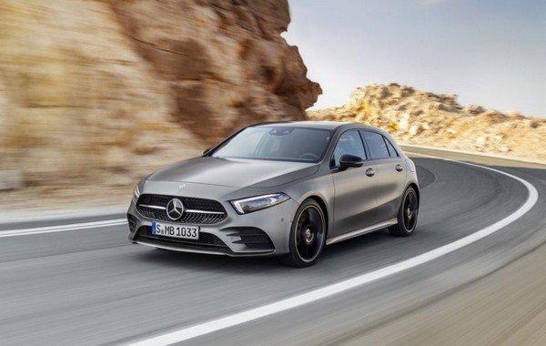 Mercedes-Benz A Class grey on road