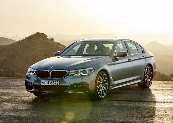 BMW 5 Series on road