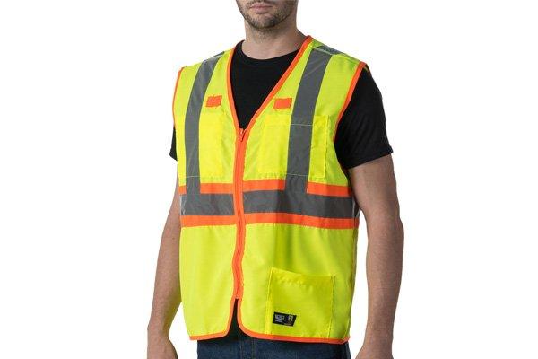 a man with hi-vis safety vest