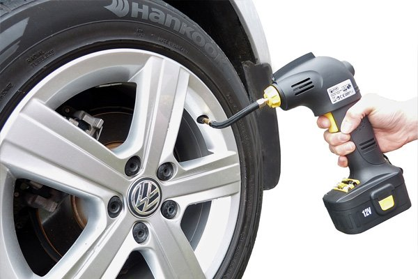 Tyre inflator is useful and convenient