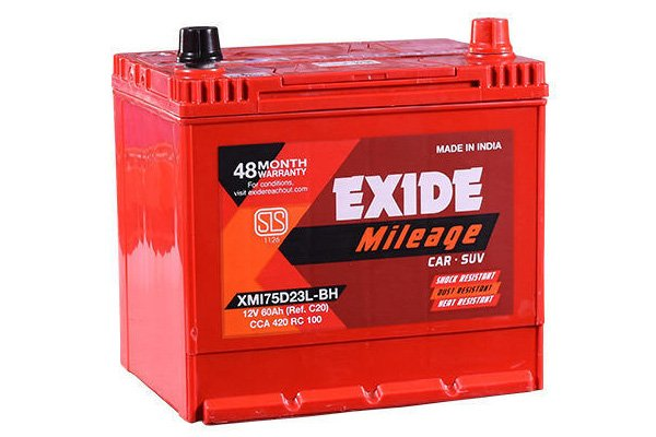 red car battery