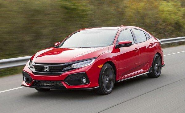 red Honda Civic angle view