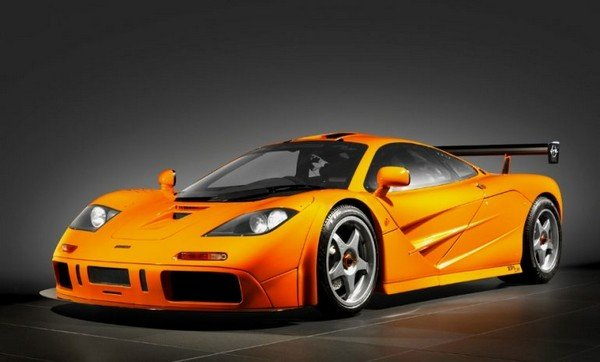 yellow McLaren F1 LM angle view