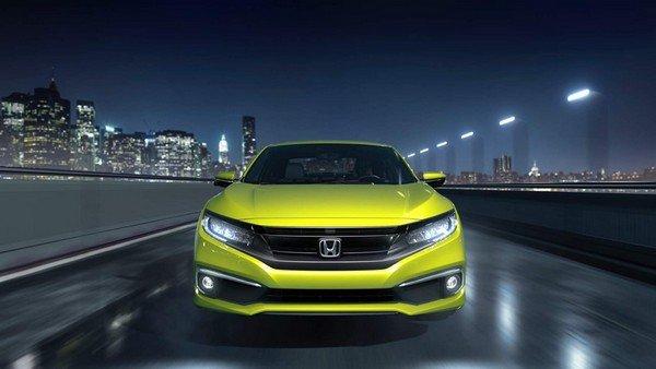 2019 Honda Civic, Yellow, Front Angular Look