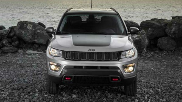 Jeep Compass Trailhawk front look grey color