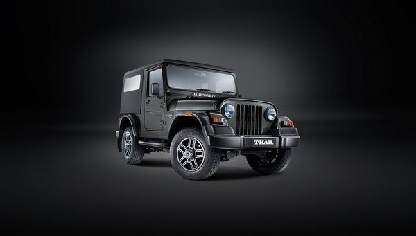 Mahindra Thar front look dark background