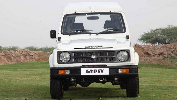 Maruti Gypsy white front look outdoor