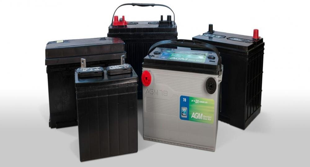 Many car batteries from different groups