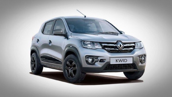 Renault KWID silver color front and side look