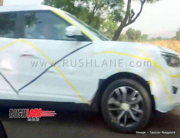 Mahindra XUV300 exterior spied