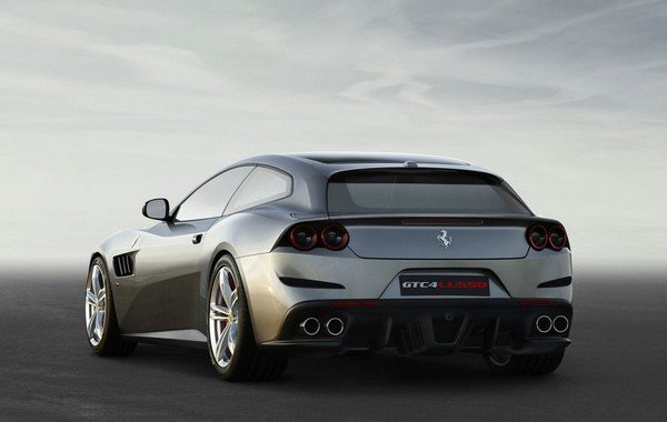 grey Ferrari Purosangue SUV back view