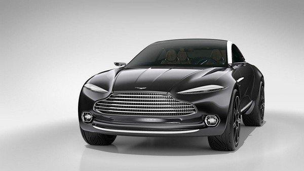 black Aston Martin DBX angle view